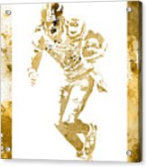 Antonio Brown Pittsburgh Steelers Water Color Art 4 Acrylic Print