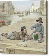Antonio Ermolao Paoletti The Melon Sellers Acrylic Print