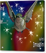 Anything Is Possible With Imagination  Rainbow Acrylic Print