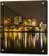 Anzac Bridge By Night Acrylic Print