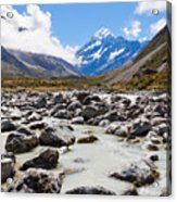 Aoraki Mount Cook Hooker Valley Southern Alps Nz Acrylic Print