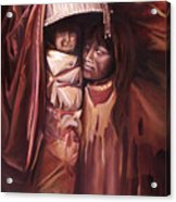 Apache Girl And Papoose Acrylic Print