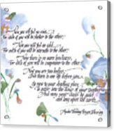Apache Wedding Prayer Blessing Acrylic Print by Darlene Flood