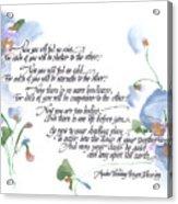 Apache Wedding Prayer Blessing Acrylic Print by Darlene Flood