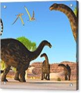 Apatosaurus Forest Acrylic Print