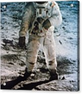 Apollo 11: Buzz Aldrin Acrylic Print by Granger