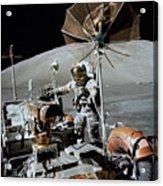 Apollo 17 Astronaut Approaches Acrylic Print