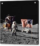 Apollo 17 Astronaut Stands Acrylic Print
