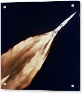 Apollo 6 Spacecraft Leaves A Fiery Acrylic Print