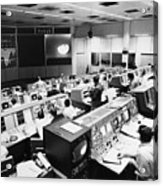 Apollo 8: Mission Control Acrylic Print by Granger