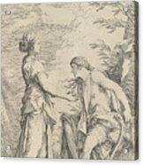 Apollo And The Cumaean Sibyl Acrylic Print