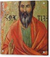 Apostle Matthias 1311 Acrylic Print