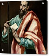 Apostle Saint Paul Acrylic Print