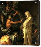 Apparition Of The Spirit Of Samuel To Saul Acrylic Print by Salvator Rosa