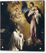 Apparition Of The Virgin To Saint Bernardo  Acrylic Print
