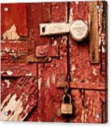 Appealing Barn Door Acrylic Print