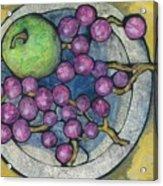 Apple And Grapes Acrylic Print