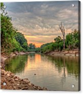 Apple Creek At Dusk Acrylic Print