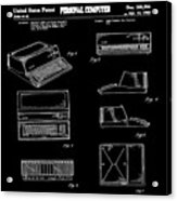 Apple Macintosh Patent 1983 Black Acrylic Print
