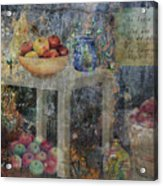 Apple Montage Acrylic Print by Arline Wagner