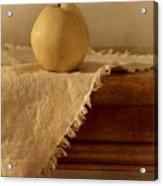 Apple Pear On A Table Acrylic Print by Priska Wettstein