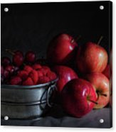 Apples And Berries Panoramic Acrylic Print