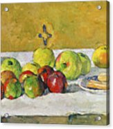 Apples And Biscuits Acrylic Print by Paul Cezanne