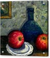 Apples And Bottles Acrylic Print
