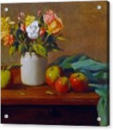 Apples And Flowers Acrylic Print
