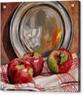 Apples And Pewter Acrylic Print
