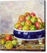 Apples In A Dish Acrylic Print