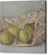 Apples In A Paper Bag Acrylic Print