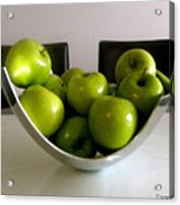 Apples In A Silver Vase Acrylic Print