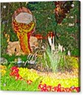 Apples In Autumn In Bellagio Conservatory In Las Vegas- Nevada Acrylic Print