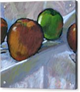 Apples On Cloth Acrylic Print