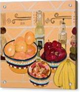 Apples Oranges And Bananas Acrylic Print