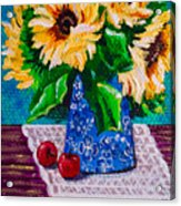 Apples  Sunflowers Acrylic Print