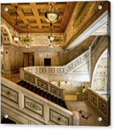 Appreciating The Old Library Acrylic Print