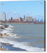 Approaching Chicago Acrylic Print