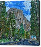 Approaching El Capitan Yosemite National Park Acrylic Print