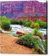 Approaching Navajo Falls Acrylic Print
