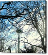 Approaching The Space Needle  Acrylic Print