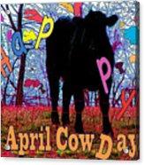 April Cow Day Acrylic Print