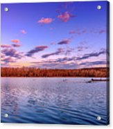 April Evening At The Lake Acrylic Print