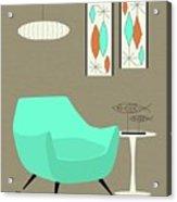 Aqua Chair Acrylic Print