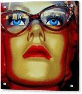Aqua Eyed Angie Acrylic Print