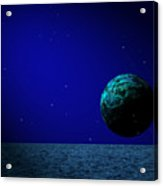 Aqua Luna And The Midnight Sun Acrylic Print