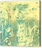 Aqua Monotype Acrylic Print