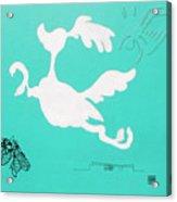 Aqua Palm Springs Idyll Acrylic Print