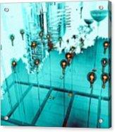 Aqua Reflections Acrylic Print